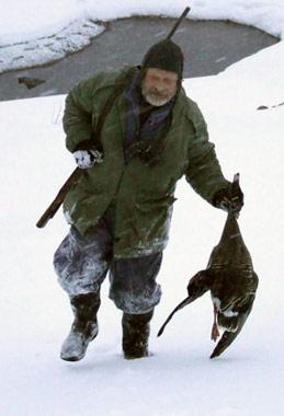 как охотиться на гуся