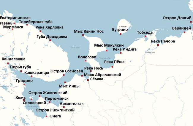 Предвычисление приливов по основным пунктам Кольского полуострова и Баренцева моря
